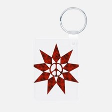Red Peace Star Keychains