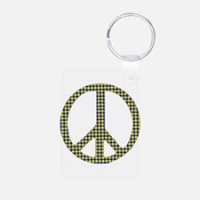 Smiley Face Peace Keychains