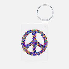 Star Peace Symbol Keychains