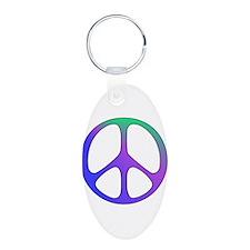 Classic Rainbow Peace Sign Keychains