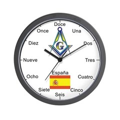 Spanish Mason Masonic Wall Clock
