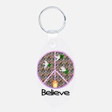 Believe In Peace Keychains