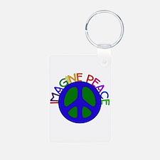 Imagine Peace Keychains