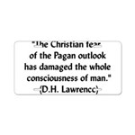 DH Lawrence Pagan Quote Aluminum License Plate