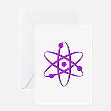 Atom - Purple Greeting Card
