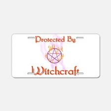 Protected By Witchcraft Aluminum License Plate