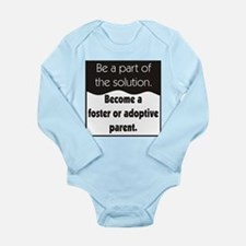 Foster Care and Adoption Long Sleeve Infant Bodysu