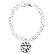 Wiccan Star and Butterflies Bracelet