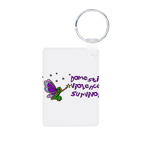 Domestic Violence Survivor Aluminum Photo Keychain