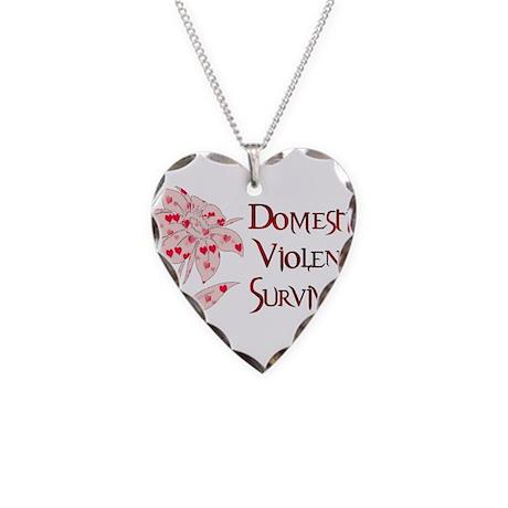 Domestic Abuse Survivor Necklace Heart Charm