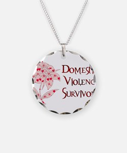 Domestic Abuse Survivor Necklace Circle Charm