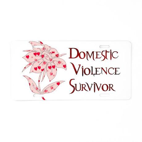 Domestic Abuse Survivor Aluminum License Plate