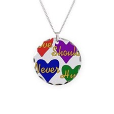 End Domestic Violence Necklace Circle Charm