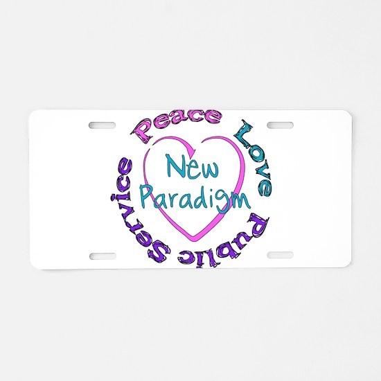 Peace Love Service Aluminum License Plate