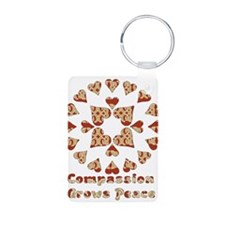 Compassion Grows Peace Keychains