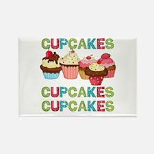 Cupcakes Cupcakes Cupcakes Rectangle Magnet