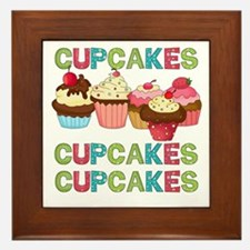 Cupcakes Cupcakes Cupcakes Framed Tile