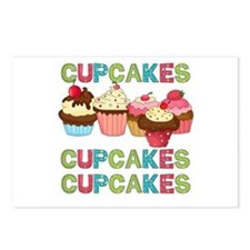Cupcakes Cupcakes Cupcakes Postcards (Package of 8