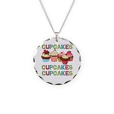 Cupcakes Cupcakes Cupcakes Necklace