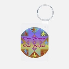 One Planet, One People Keychains
