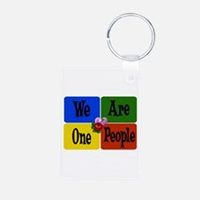 One World, One People Keychains