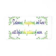Tolerance Aluminum License Plate