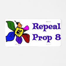 Repeal Prop 8 Aluminum License Plate