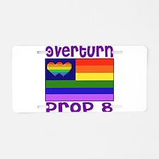 Overturn Prop 8 Aluminum License Plate