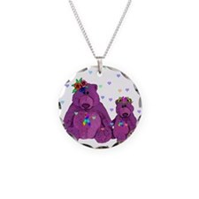 Purple Love Bears Necklace