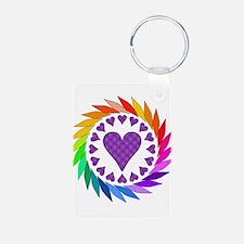 Rainbow Love Hearts Keychains