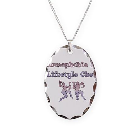 Homophobia Lifestyle Cho Necklace Oval Charm