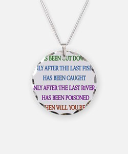 Rainbow Planet Quote Necklace Circle Charm