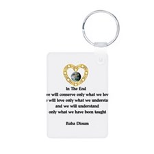 Baba Dioum's Quote Keychains