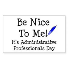 Admin Professional Day Rectangle Decal