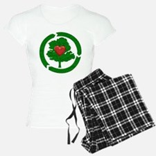 Recycle Tree With Heart Pajamas