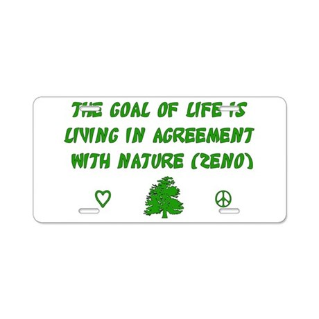 Earth Day Nature T-Shirt Aluminum License Plate
