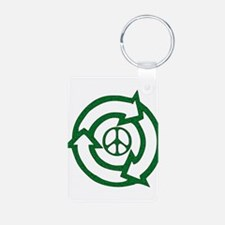Recycle Peace Sign Keychains