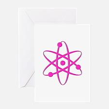 Atom - Pink Greeting Card