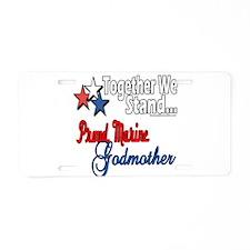 Marine Godmother Aluminum License Plate