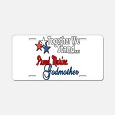 Marine Godmother Aluminum License Plate
