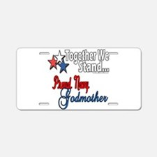 Navy Godmother Aluminum License Plate