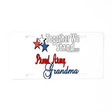 Army Grandma Aluminum License Plate