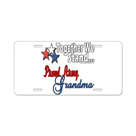 Army Grandma Aluminum License Plate
