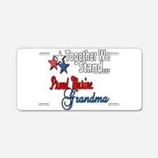 Marine Grandmother Aluminum License Plate