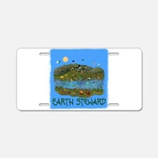 Earth Steward Aluminum License Plate