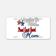 Coast Guard Mom Aluminum License Plate