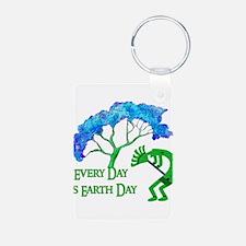 Earth Day Kokopelli Keychains
