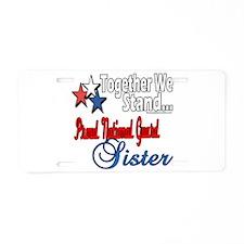 National Guard Sister Aluminum License Plate