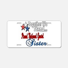 National Guard Sister Aluminum License Plate