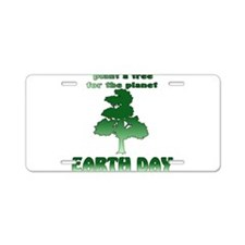 Plant An Earth Day Tree Aluminum License Plate